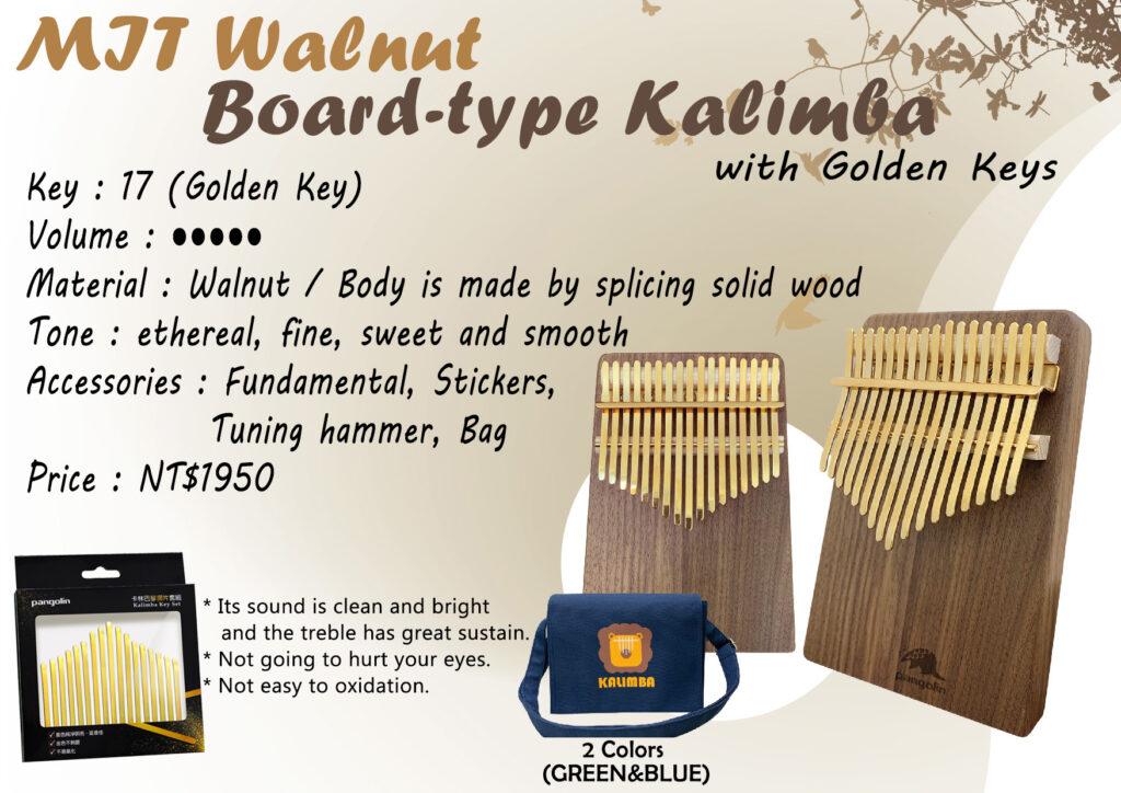 MIT Walnut Board-type Kalimba