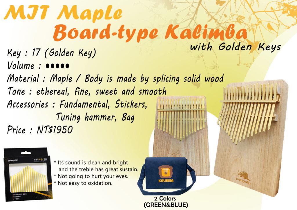 MIT Maple Borad-type Kalimba