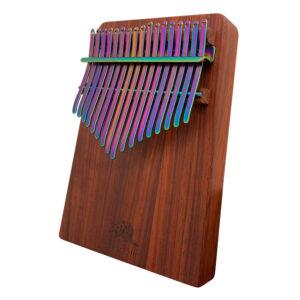 非洲酸枝(紅壇)實木拼接搭配PVD鍍鈦鋼片-五彩 板式卡林巴琴 拇指琴