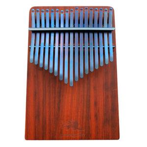 非洲酸枝(紅壇)實木拼接搭配PVD鍍鈦鋼片-海軍藍 板式卡林巴琴 拇指琴