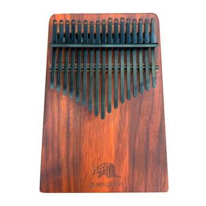 非洲酸枝(紅壇)實木拼接搭配PVD鍍鈦鋼片-曜岩黑 板式卡林巴琴 拇指琴