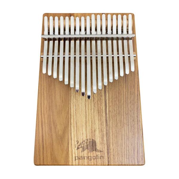 Pangolin 緬甸柚木 板式實木拼接卡林巴拇指琴 銀霧鋼片