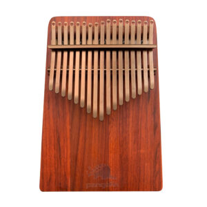 非洲酸枝(紅壇)實木拼接搭配PVD鍍鈦鋼片-玫瑰金 板式卡林巴琴 拇指琴正面