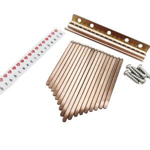 卡林巴琴高階鍍鈦鋼片套組 玫瑰金 台灣製 拇指琴