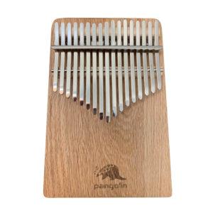 Pangolin 紅橡木 板式實木拼接卡林巴拇指琴 銀霧鋼片